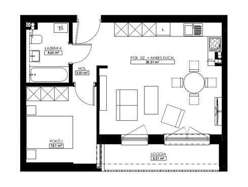 Mieszkania 2-pokojowe